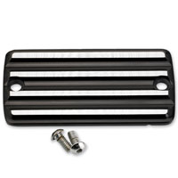 Joker Machine Silver/Black Finned Front Master Cylinder Cover