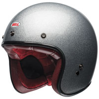 Bell Custom 500 Gloss Silver Flake Open Face Helmet