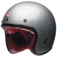 Bell Custom 500 Gloss Silver Flake Open Face Helmet