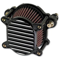 Joker Machine Omega Air Cleaner Finned Black Silver