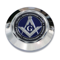 """MotorDog69 Set Screw Timing Cover Coin Mount with """"MD69 Masonic"""" Coin"""