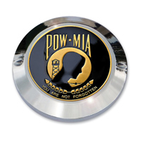 "MotorDog69 Set Screw Timing Cover Coin Mount with ""POW-MIA"" Coin"