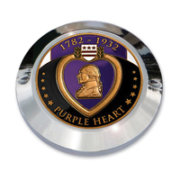 "MotorDog69 Set ScrewTiming Cover Coin Mount with ""Purple Heart"" Coin"