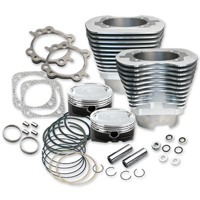 S&S Cycle 4-1/8″ Bore Cylinders & Pistons For 124″ Hot Setup Kits Silver