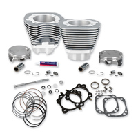 S&S Cycle 4-1/8″ Bore Cylinders & Pistons For 111″ Hot Setup Kits Silver