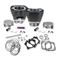 S&S Cycle 4-1/8″ Bore Cylinders & Pistons For 111″ Hot Setup Kits Wrinkle Black