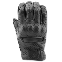 Speed and Strength Men's Straight Savage Black Leather Gloves
