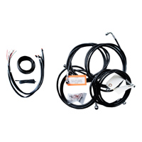 LA Choppers Black Complete Cable/Line/Wiring Handlebar Kit for Mini Ape Bars on Models with ABS