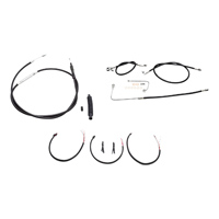 LA Choppers Black Complete Cable/Line/Wiring Handlebar Kit for Beach Bars on Models with ABS