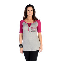 Liberty Wear Women's Midnight Rider Heather Gray Top