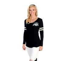 Liberty Wear Women's Vintage Love Black Long-Sleeved T-Shirt