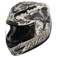 ICON Airmada Scrawl White Full Face Helmet