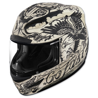 ICON Airmada Scrawl White Full Face Helmet