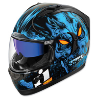 ICON Alliance GT The Horror Blue Full Face Helmet
