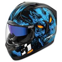 ICON Alliance GT The Horror Blue Full Face Helmet