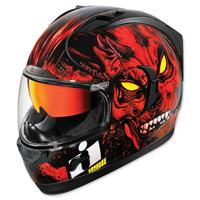 ICON Alliance GT The Horror Red Full Face Helmet