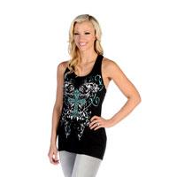 Liberty Wear Women's Bold Celtic Cross Black Tank Top
