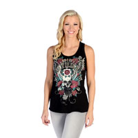 Liberty Wear Women's Black Devilish Tank Top