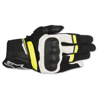 Alpinestars Men's Booster Black/White/Yellow Gloves