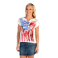 Liberty Wear Women's American Spirit White T-Shirt