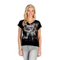 Liberty Wear Women's Flying Route 66 Black T-Shirt