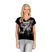 Liberty Wear Women's Flying Route 66 Black T-Shirt