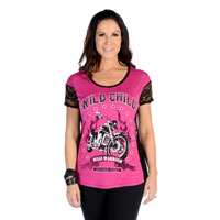 Liberty Wear Women's Wild Child Magenta T-Shirt