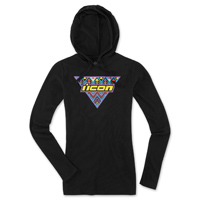 ICON Women's Georacer Black Thermal Hoodie