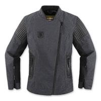 ICON One Thousand Women's Tuscadero Black Jacket