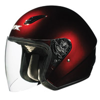 AFX FX-43 Wine Red Open Face Helmet