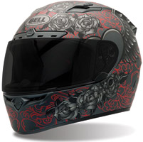 Bell Vortex Archangel Black and Red Patterned Full Face Helmet