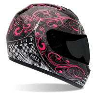 Bell Arrow Zipped Black and Pink Full Face Helmet
