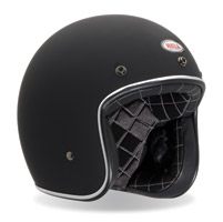 Bell Custom 500 Matte Black Open Face Helme