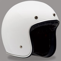 Bell Custom 500 White Open Face Helmet