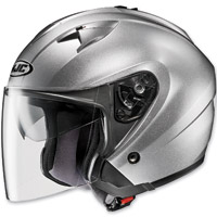 HJC IS-33 Metallic Rubbertone Silver Open Face Helmet