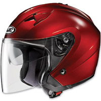 HJC IS-33 Metallic Rubbertone Wine Open Face Helmet