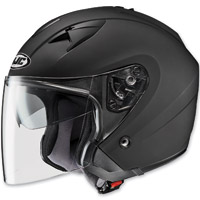 HJC IS-33 Metallic Rubbertone Matte Black Open Face Helmet