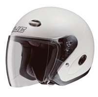 HJC CL-33 Solid White Open Face Helmet
