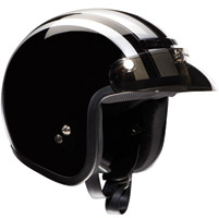Z1R Jimmy Retro Black and Silver Open Face Helmet