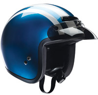 Z1R Jimmy Retro Pearl Blue and White Open Face Helmet