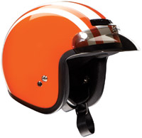 Z1R Jimmy Retro Orange and White Open Face Helmet