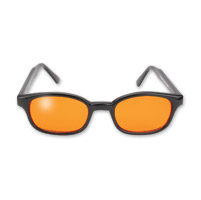 KD's Sunglasses - Black Frame with Orange Lens
