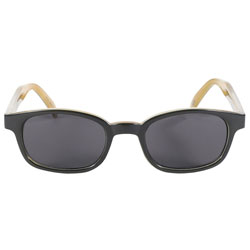KD's Sunglasses - Dark Green Tribal Frame with Grey Lens
