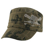 ZAN headgear Studded Camo Skull Highway Honeys Cap