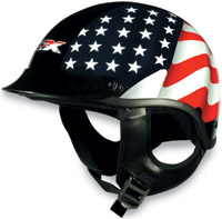 AFX Freedom Flag Black Half Helmet