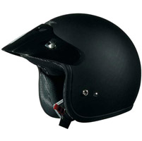 AFX Junior FX-75 Flat Black Open Face Helmet
