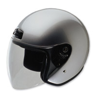 HCI-20 Silver Open Face Helmet with Shield
