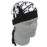 ZAN headgear Big White Skull Heads Flydanna Head Wrap