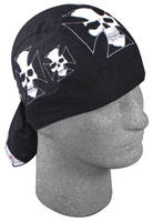 ZAN headgear Iron Cross Skull Flydanna Head Wrap