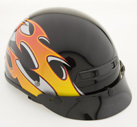Zox Alto Blaze II Gloss Orange Half Helmet